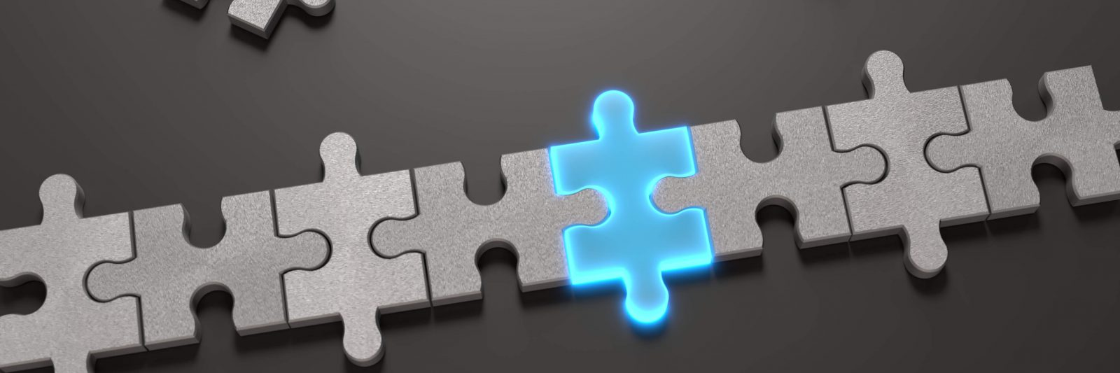 Puzzle pieces fit together